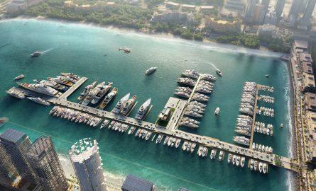 Der Dubai Harbour Yachthafen