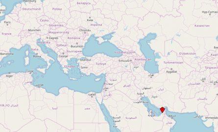 Lage Dubais in den Vereinigten Arabischen Emiraten