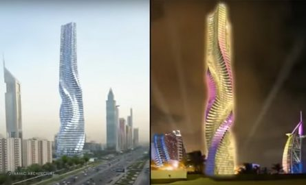 Animation des Dynamic Towers in Dubai
