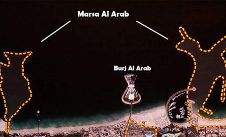 Skizze für die Lage von Marsa al Arab