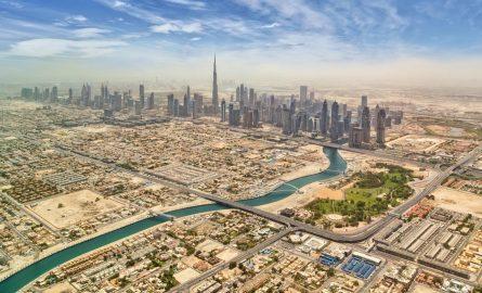Dubais Stadtviertel von Oben