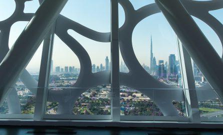 Ausblick auf Dubais Skyline vom Dubai Frame