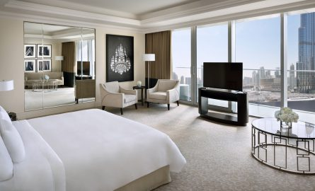 Hotel The Address Suite mit Blick auf den Burj Khalifa