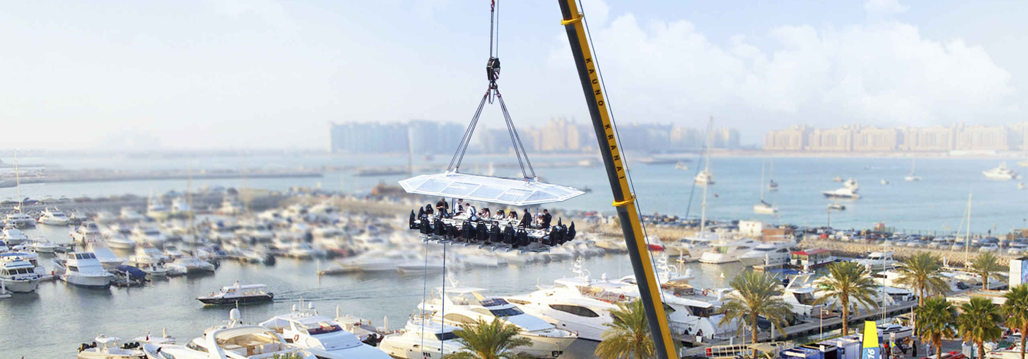 Kulinarisches Highlight in Dubai mit dem Dinner in the Sky
