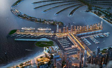 Dubai Harbour aus der Luft