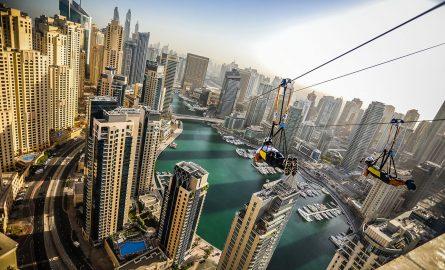 Mit der Zipline über die Dubai Marina fliegen