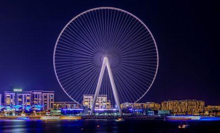 Ain Dubai bei Nacht